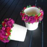 çiçekli mumluklar